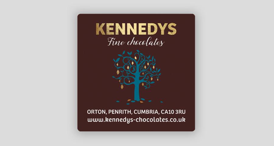 Kennedys gold foil label