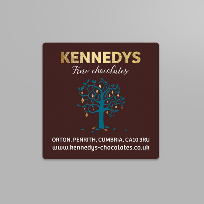 Kennedys Fine Chocolates print design