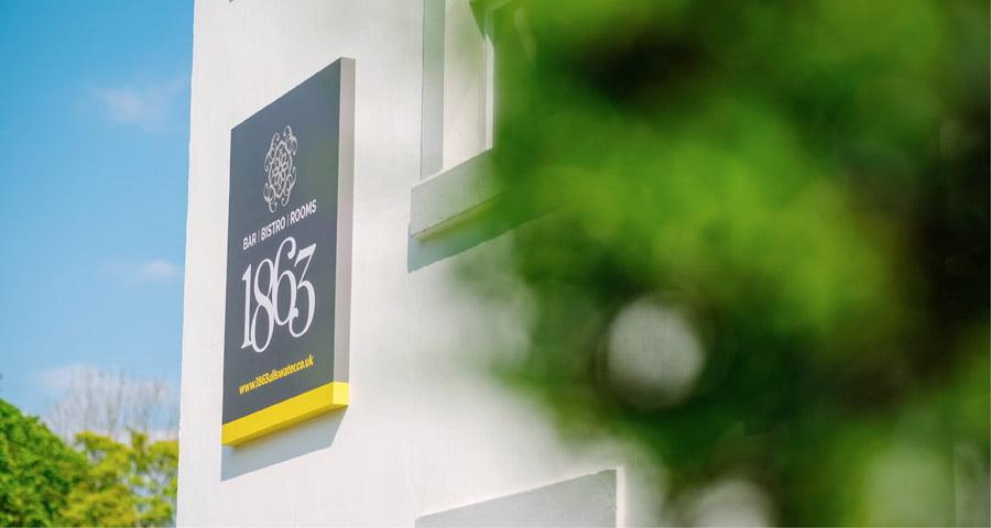 1863 signage