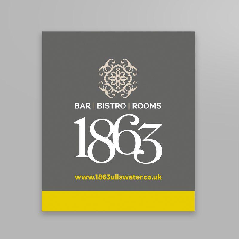 1863 signage design