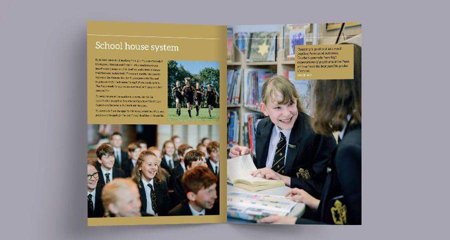 Cartmel Priory School print design
