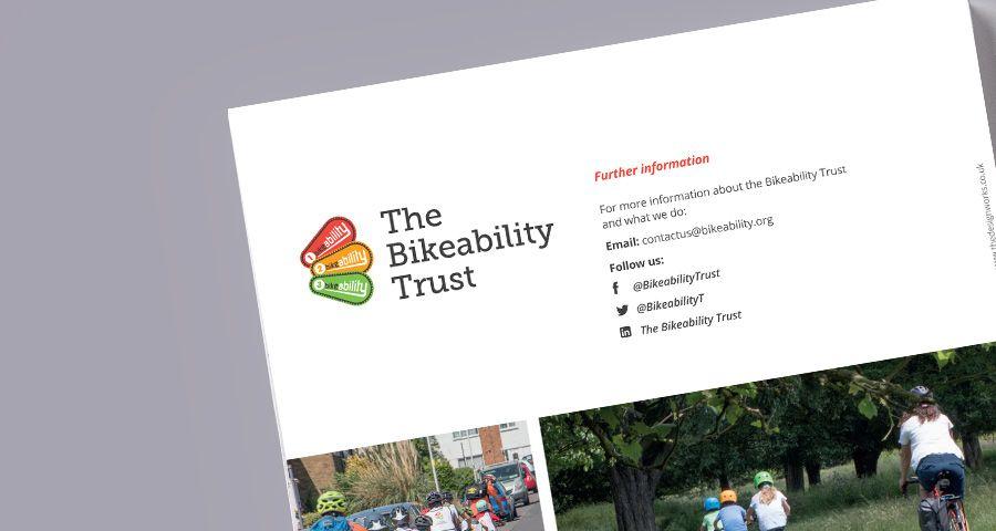 The Bikeability Trust print design