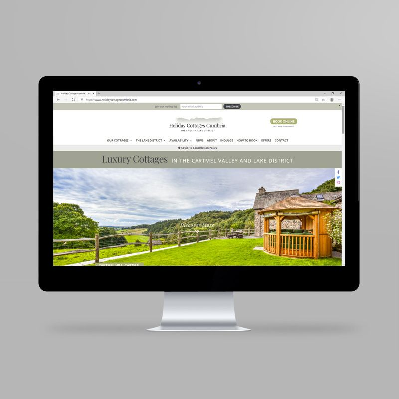 Holiday Cottages Cumbria website