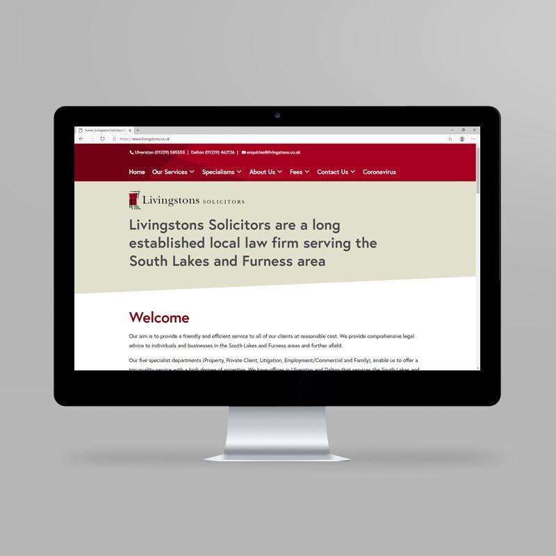 Livingstons Solicitors website