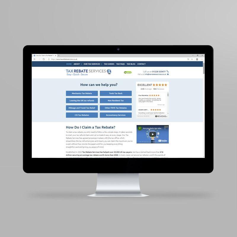 Tax Rebate Services website