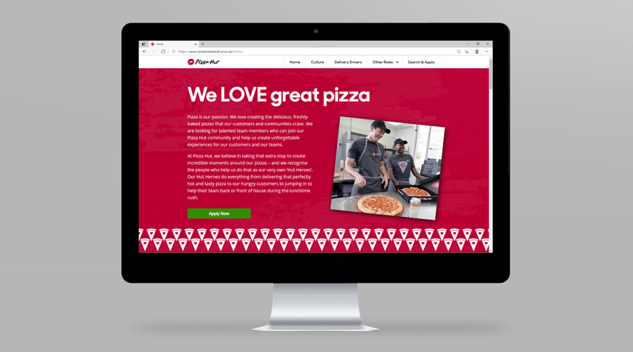 Pizza Hut delivery website