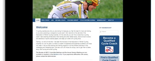 The Association of British Cycle Coaches WordPress Website