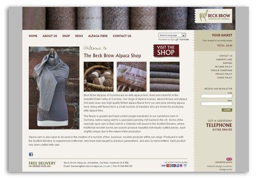 Beck Brow Alpaca Shop WordPress Ecommerce Website
