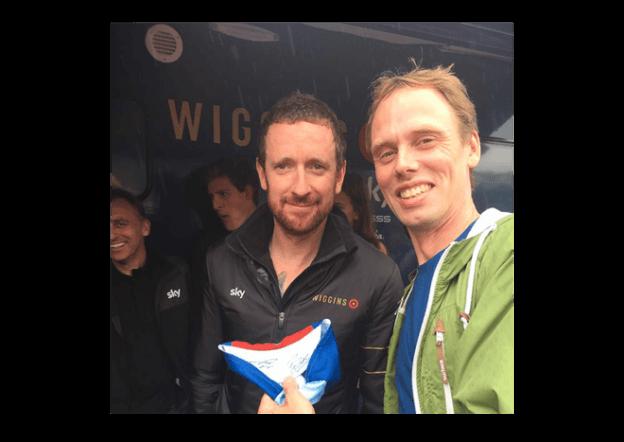 Bradley Wiggins and Kendal Cycle Club