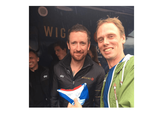 Bradley Wiggins and Kendal Cycle Club