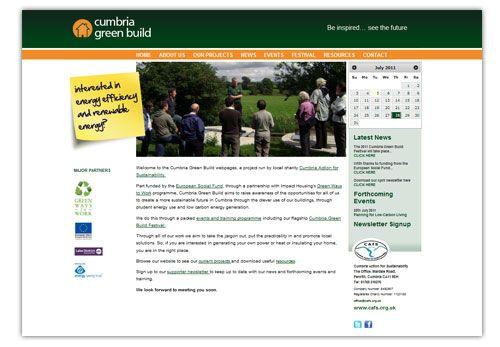 Cumbria Green Build - website