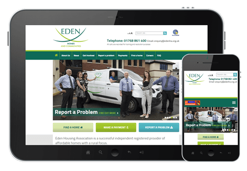 Edeb Housing Association website