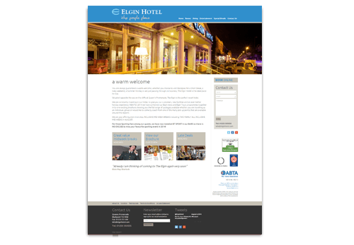 Elgin Hotel Website