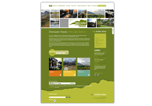 Elterwater Hostel - WordPress website