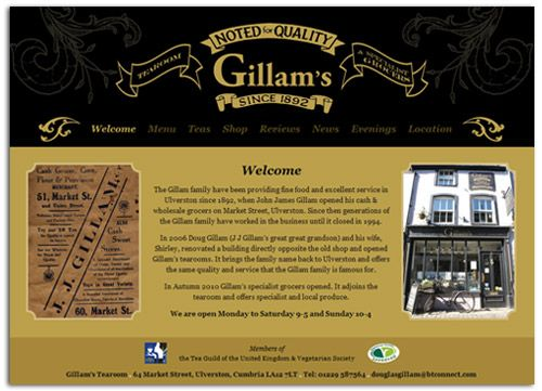 Gillam's Tearoom website