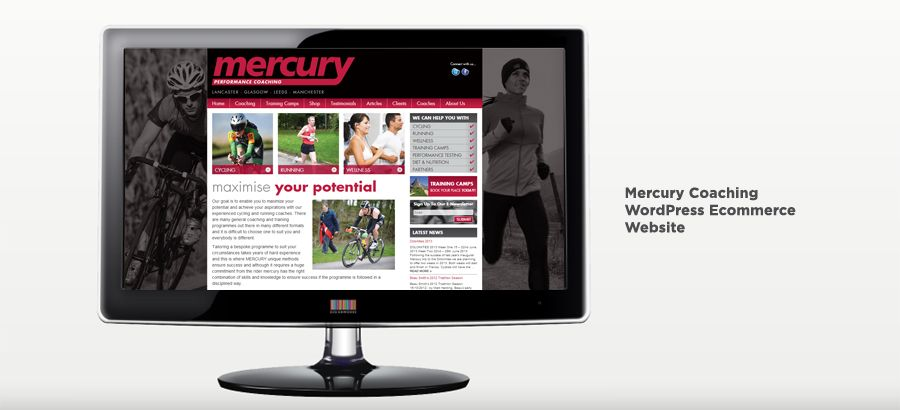 Mercury Performance Coaching - WordPress Ecommerce Website