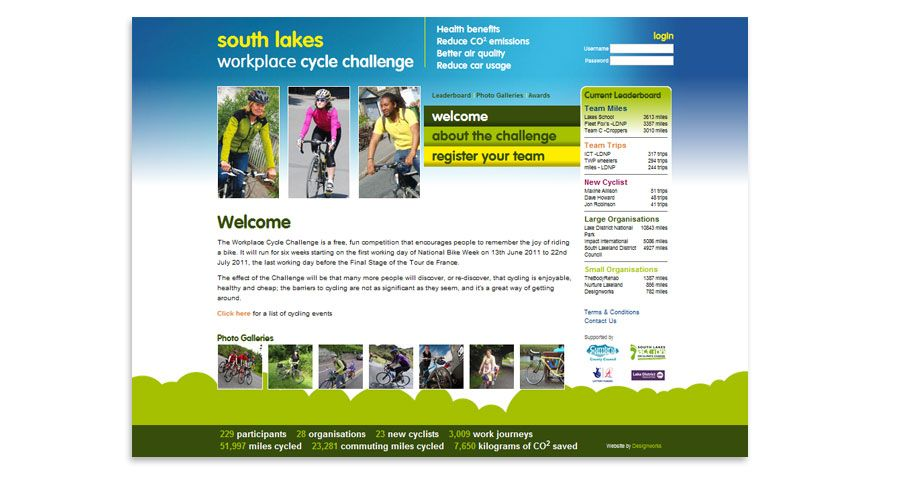 South Lakes Cycle Challenge - Cycle Callenge Website
