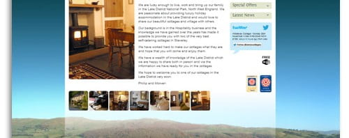 Lake District Holiday Cottages WordPress Website