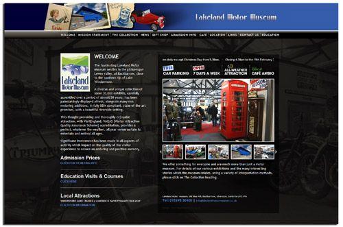 Lakeland Motor Museum website