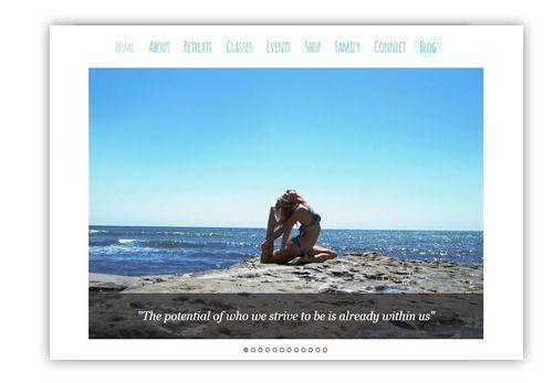 loveyogabum - Responsive WordPress Website
