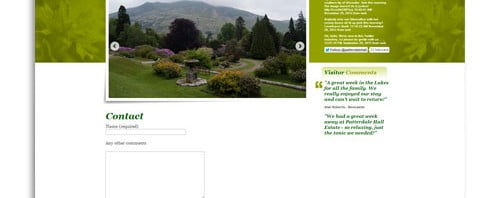 Our WordPress Theme as used by Patterdale Hall Estate